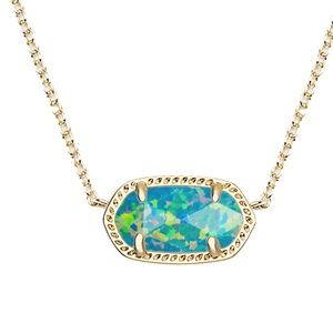 Kendra Scott Elisa Necklace in Aqua Kyocera Opal